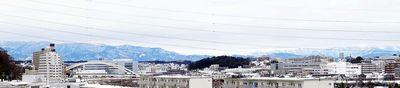 2/15_11:20 am-大山、多摩、秩父山系の山々